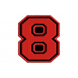 "NUMBER EIGHT ""8"" Embroidered Patch"