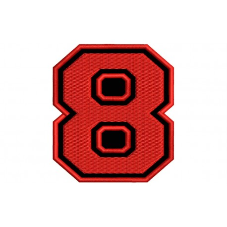 """NUMBER EIGHT """"8"""" Embroidered Patch"""