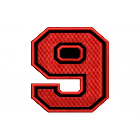 """NUMBER NINE """"9"""" Embroidered Patch"""