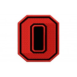 "NUMBER ZERO ""0"" Embroidered Patch"