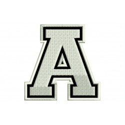 "LETTER A Embroidered Patch (""COLLEGE"" Font)"
