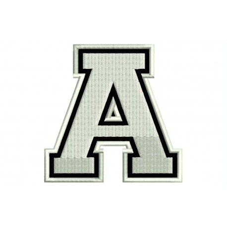 """LETTER A Embroidered Patch (""""COLLEGE"""" Font)"""