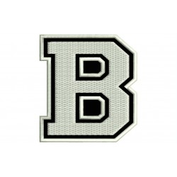 "LETTER B Embroidered Patch (""COLLEGE"" Font)"