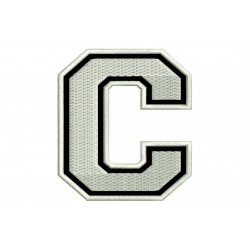 "LETTER C Embroidered Patch (""COLLEGE"" Font)"