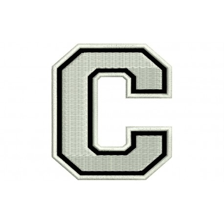 """LETTER C Embroidered Patch (""""COLLEGE"""" Font)"""