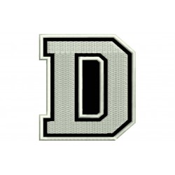 "LETTER D Embroidered Patch (""COLLEGE"" Font)"