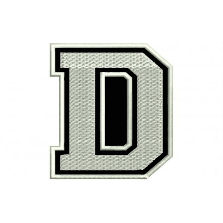 """LETTER D Embroidered Patch (""""COLLEGE"""" Font)"""