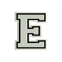 "LETTER E Embroidered Patch (""COLLEGE"" Font)"