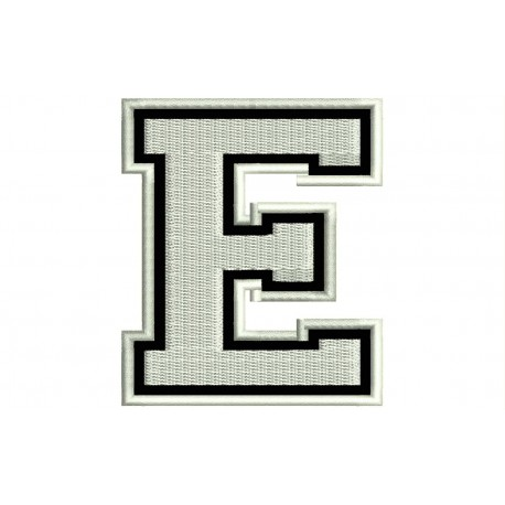 """LETTER E Embroidered Patch (""""COLLEGE"""" Font)"""