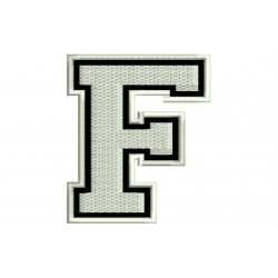 "LETTER F Embroidered Patch (""COLLEGE"" Font)"