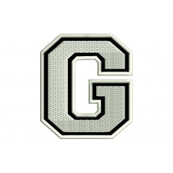 "LETTER G Embroidered Patch (""COLLEGE"" Font)"