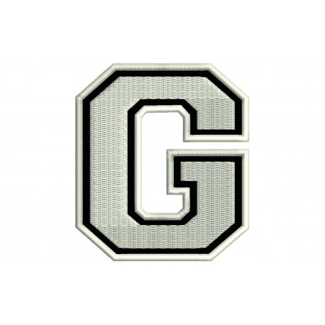 """LETTER G Embroidered Patch (""""COLLEGE"""" Font)"""