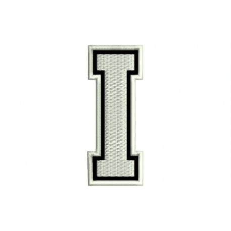 """LETTER I Embroidered Patch (""""COLLEGE"""" Font)"""