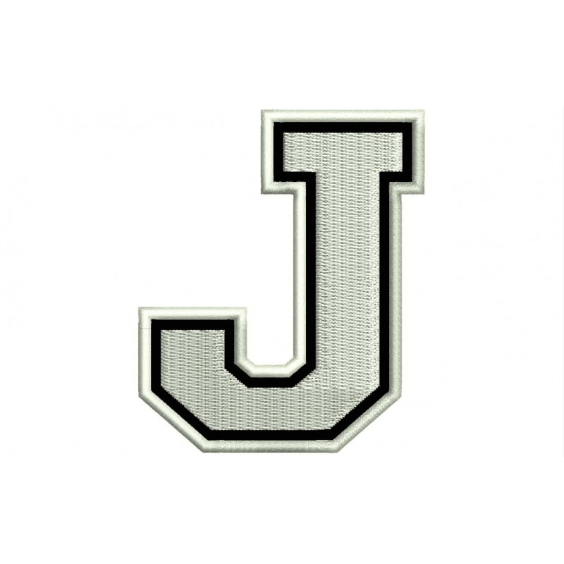 LETTER J Embroidered Patch
