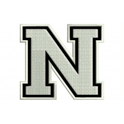 "LETTER N Embroidered Patch (""COLLEGE"" Font)"