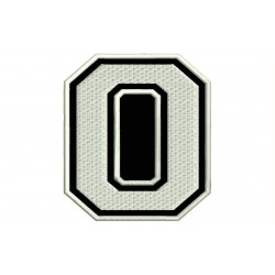 "LETTER O Embroidered Patch (""COLLEGE"" Font)"