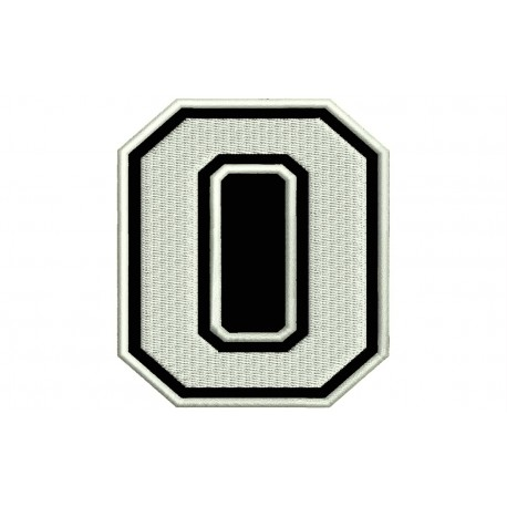 """LETTER O Embroidered Patch (""""COLLEGE"""" Font)"""