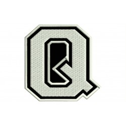 "LETTER Q Embroidered Patch (""COLLEGE"" Font)"