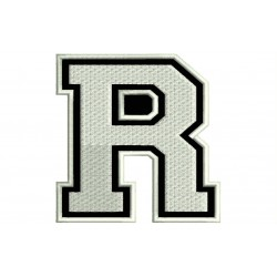 "LETTER R Embroidered Patch (""COLLEGE"" Font)"