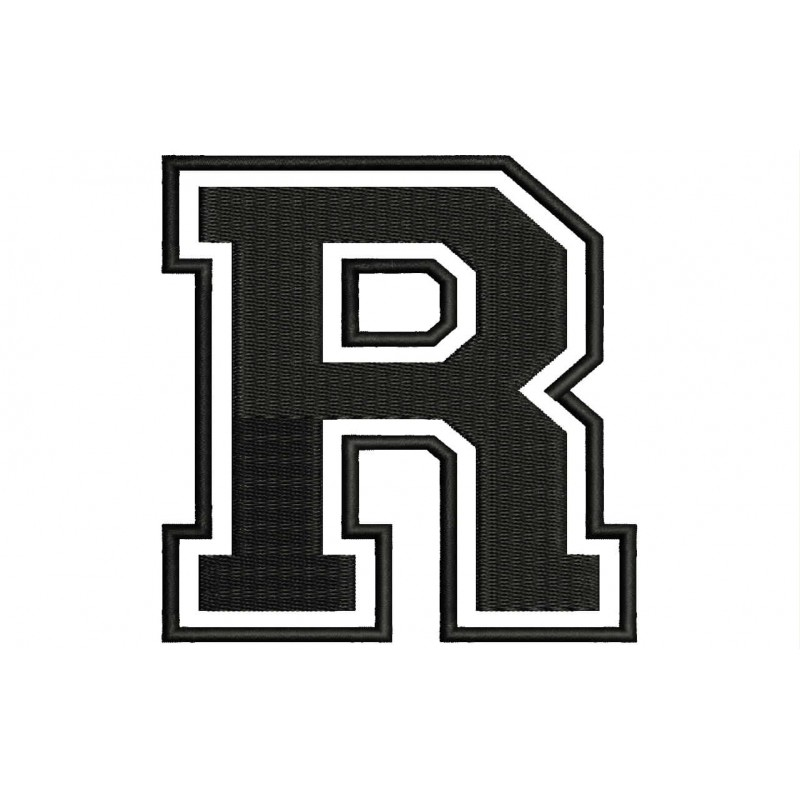 Letter R Embroidered Patch