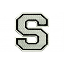 "LETTER S Embroidered Patch (""COLLEGE"" Font)"