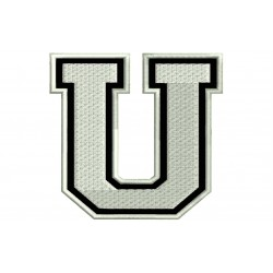 """LETTER U Embroidered Patch (""""COLLEGE"""" Font)"""