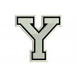 """LETTER Y Embroidered Patch (""""COLLEGE"""" Font)"""