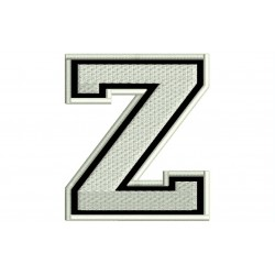 """LETTER Z Embroidered Patch (""""COLLEGE"""" Font)"""