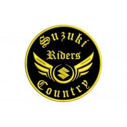 Parche Bordado SUZUKI RIDERS (Bordado ORO / Fondo NEGRO)