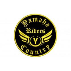 Parche Bordado YAMAHA RIDERS (Bordado ORO / Fondo NEGRO)