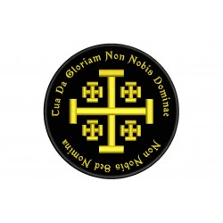 TEMPLAR CROSS and MOTTO Embroidered Patch