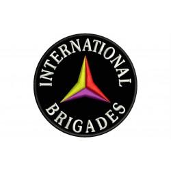 Parche Bordado BRIGADAS INTERNACIONALES (Fondo NEGRO)