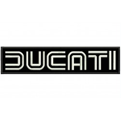 DUCATI DOUBLE LINE Embroidered Patch