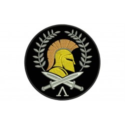 SPARTAN HELMET Embroidered Patch