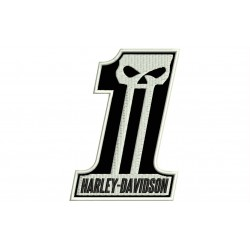 HARLEY-DAVIDSON (Dark Custom) Embroidered Patch (BLACK Background)