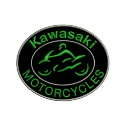 KAWASAKI MOTORCYCLES Embroidered Patch