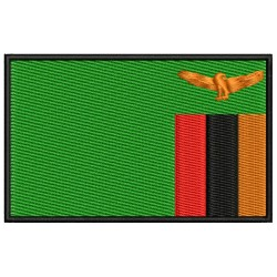 ZAMBIA FLAG Embroidered Patch
