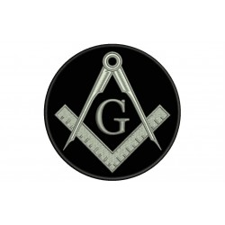 COMPASS AND SQUARE (MASONIC SYMBOLOGY) Embroidered Patch