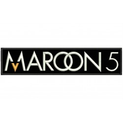 MAROON 5 Embroidered Patch (BLACK Background)