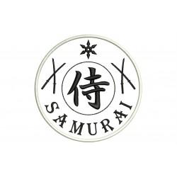 SAMURAI (Katana and Shuriken) Embroidered Patch