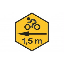 CYCLING (Safety Distance) Embroidered Patch