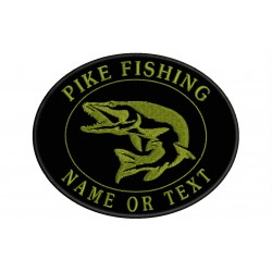 Parche Bordado PESCA PIKE FISHING (Bordado CAQUI)