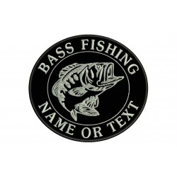 BASS FISHING Custom Embroidered Patch