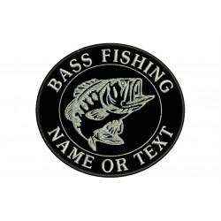Parche Bordado PESCA BASS FISHING (Bordado PLATA)