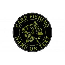 Parche Bordado PESCA CARP FISHING (Bordado CAQUI)
