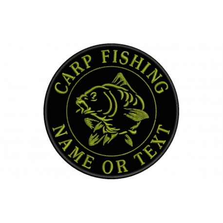 CARP FISHING Custom Embroidered Patch