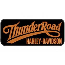 Parche Bordado THUNDER ROAD HARLEY-DAVIDSON (Bordado NARANJA / Fondo NEGRO)