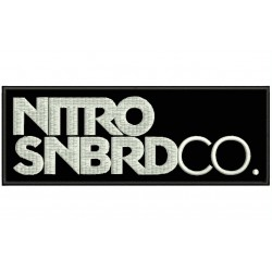 NITRO SNOWBOARD Embroidered Patch