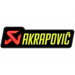 Parche Bordado AKRAPOVIC (Bordado AMARILLO / Fondo NEGRO)
