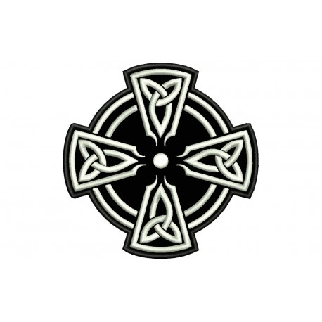 CELTIC CROSS (Circle) Embroidered Patch